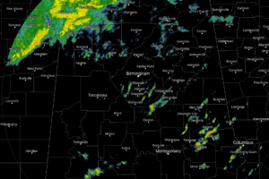 Rain Falling Once Again In North/Central Alabama At Midday