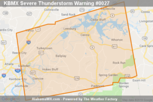 A Severe Thunderstorm Warning Remains In Effect Until 7:15 PM CDT For Northeastern Calhoun And Southeastern Cherokee Counties