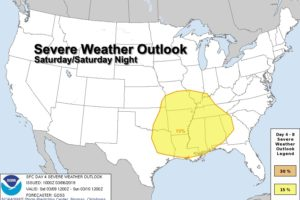 Another Freeze Tonight; Severe Storms Possible Over The Weekend