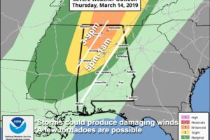 Strong/Severe Storms Possible Later Today/Tonight