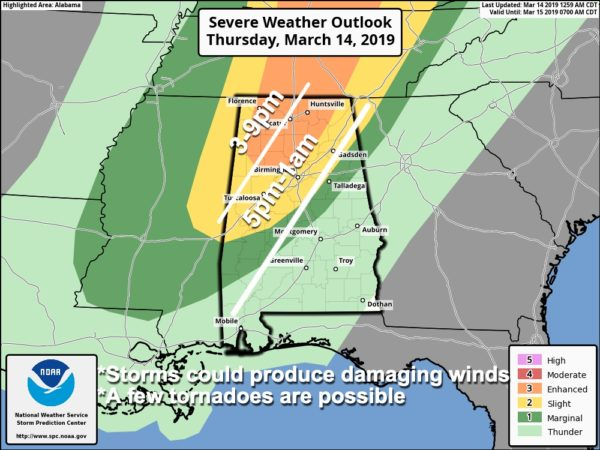 James Spann: Severe storms possible in Alabama later today