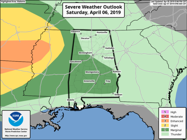 James Spann: Warm weekend for Alabama, with a few scattered storms
