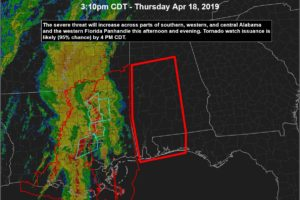 Tornado Watch For Parts Of Central Alabama Coming Very Soon