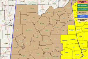 Tornado Watch Extended Until 10:00 AM for Southeastern Parts Of Central Alabama