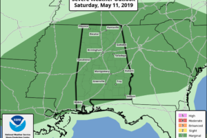 Occasional Showers/Storms Over The Weekend