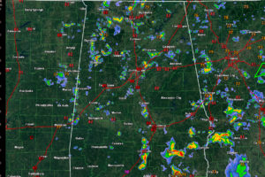 Storms Building Across Alabama