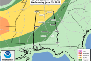 Slight Risk For Severe Storms Continues Through The Overnight Hours