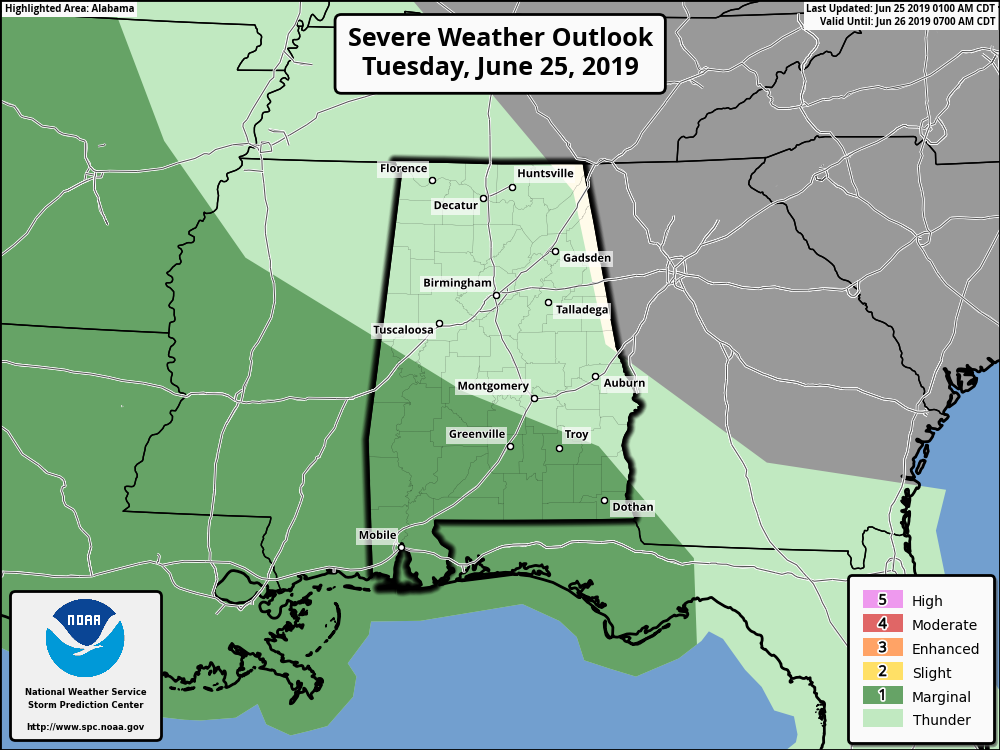 James Spann: Afternoon storms mainly over south Alabama ...