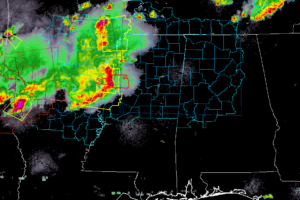 MCS Pushing Across Mississippi River, Roughly 3 Hours From Western Parts Of North/Central Alabama