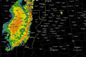 Severe Storms Continue To March Across Western Portions Of North/Central Alabama