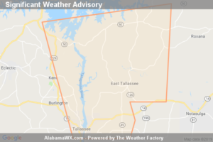 Significant Weather Advisory For Northeastern Elmore And South Central Tallapoosa Counties Until 7:00 PM CDT
