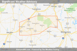 Significant Weather Advisory For Northwestern Autauga, Western Chilton, Northern Marengo, Perry, Southern Greene, Hale,  Southern Bibb, Northern Dallas And Sumter Counties Until 6:30 PM CDT