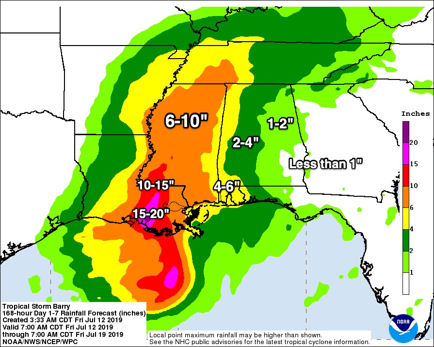 James Spann: Barry will bring wet, unsettled weather to Alabama
