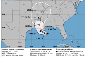Tropical Storm Expected To Form Later Today