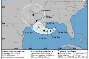 Update On The Gulf Of Mexico Tropical Situation