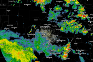 Alabama Update Just Before 4 p.m.:  Rain and Strong Storms Across Parts of Alabama
