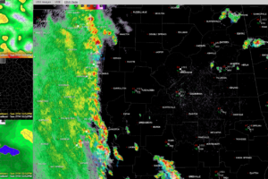 Radar Check at 3 p.m.:  Feeder Band over West Alabama Producing Tropical Rains and Heavy Storms