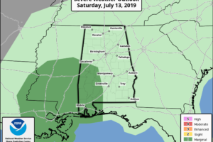 An Evening Look At What To Expect Across Central Alabama From Barry
