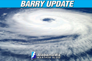 Barry Weakens To A Tropical Depression Over Northwestern Louisiana