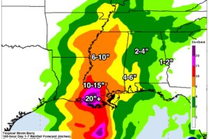 Unsettled Weather Ahead For Alabama Thanks To TS Barry