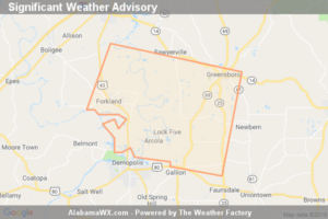 Significant Weather Advisory For Southeastern Greene And Southwestern Hale Counties Until 2:45 PM CDT