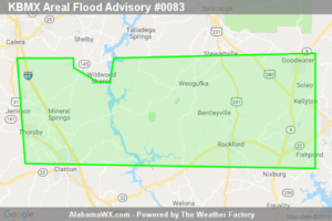 Areal Flood Advisory Issued For Parts Of Chilton And Coosa Counties Until 4:00PM