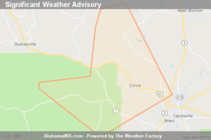 Significant Weather Advisory For Southwestern Bibb County Until 3:30 PM CDT