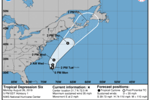 Tropical Depression Forecast To Move Northward And Northeastward Over The Open Atlantic