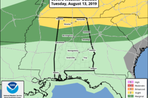 Strong Storms For North Alabama Tonight; Heat Levels Drop Tomorrow
