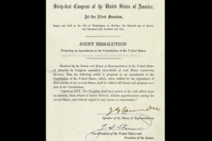 On This Day In Alabama History: Alabama Was First State To Ratify 16th Amendment