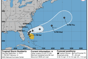 Humberto Strengthens A Little More, Hurricane Expected On Sunday