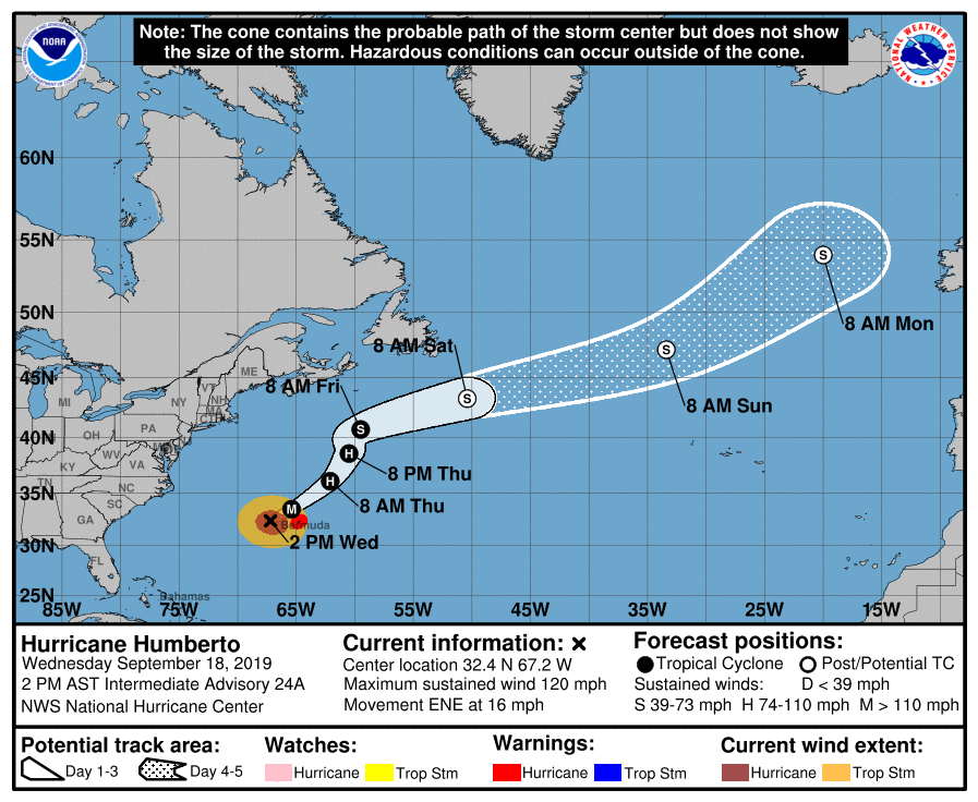 humberto hitting bermuda with tropical storm force winds hurricane force expected tonight the alabama weather blog mobile humberto hitting bermuda with tropical