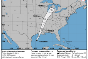 Tropical Depression 17 Forms Over The Western Gulf Of Mexico, Further Strengthening Possible