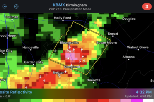 Severe Thunderstorm Warning for Parts of Blount County until 5:15 pm