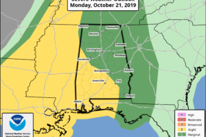 Active Weather Day Ahead For Alabama