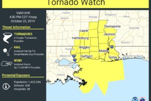 Tornado Watch Issued For Southwest Alabama Through 4:00 PM This Afternoon