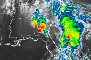 Post-Tropical Cyclone Nestor Is Inland Over The Florida Panhandle