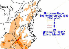 Reflecting on Rainfall in Hurricane Hugo: How Storm Speed Affects Rainfall Rates