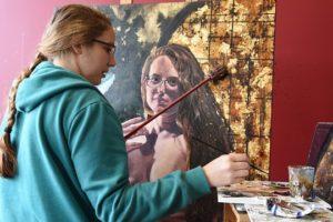 Alabama Maker Jane Philips Uses Coffee To Perk Up Eye-Opening Art