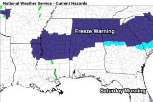Freeze Warning Tonight; Even Colder Next Week