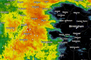 Strong Storms Now Affectings Parts Of Tuscaloosa, Pickens, Greene, Fayette, & Lamar Counties