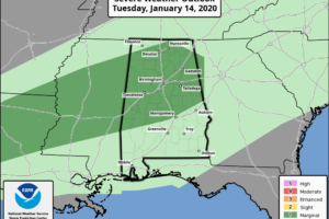 Wet/Mild Weather Continues Across Alabama