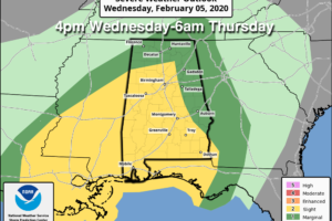 Showers Today; Strong To Severe Storms Tomorrow Night