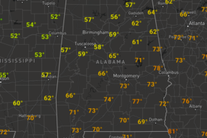 Mainly Cloudy, Cooler Saturday Afternoon