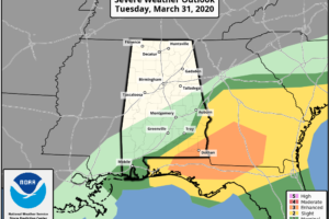 Severe Threat Continues For Extreme Southeast Alabama