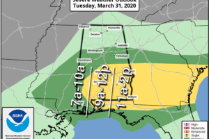 Severe Storms Possible Today Over South Alabama