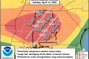 The Alabama Severe Weather Threat Today