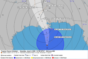 10 p.m. Look at Tropical Storm Cristobal and Its Impacts for the Gulf Coast