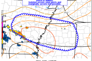 Scattered Strong Storms Likely, but Watch Unlikely