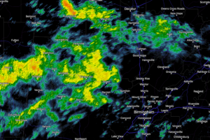 Late Morning Update: Areas of Rain, but Fewer Storms Today